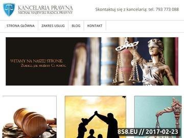 Zrzut strony Usługi adwokackie i prawnicze