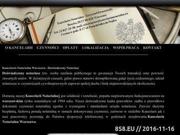 Zrzut strony Akty Notarialne i inne czynności notarialne