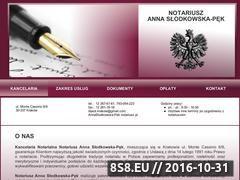 Miniaturka domeny www.kancelarianotarialna.krakow.pl