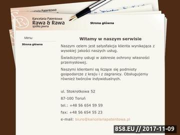 Zrzut strony Kancelaria Patentowa Rawa&Rawa Sp. J. własność przemysłowa