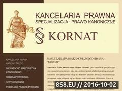 Miniaturka domeny www.kancelariaprawna-kornat.pl