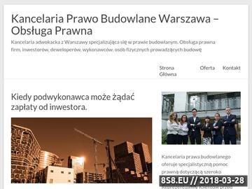 Zrzut strony Kancelaria prawo budowlane Warszawa