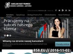 Miniaturka domeny www.kancelariaradcaag.com.pl