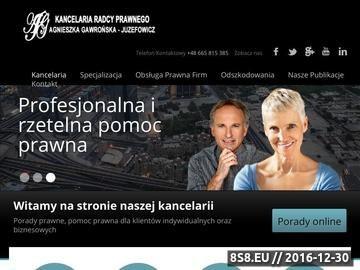 Zrzut strony Kancelaria prawna, pomoc prawna Wrocław