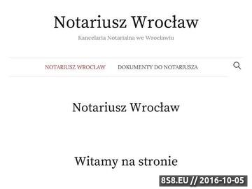 Zrzut strony Kancelarie notarialne we Wrocławiu