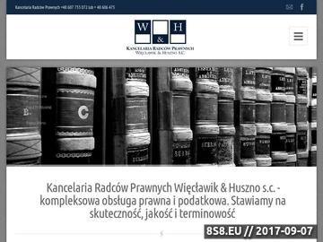 Zrzut strony Adwokat Kluczbork - Więcławik & Huszno