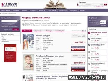 Zrzut strony Kanon24 księgarnia internetowa