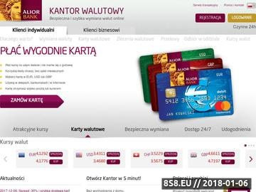 Zrzut strony Wymiana walut