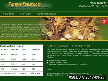 Zrzut strony Kantor Pruszków wymiana walut Piastów
