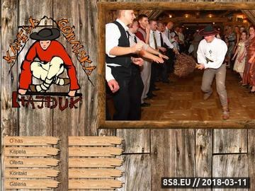 Zrzut strony Kapela Góralska Hajduk