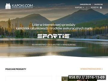 Zrzut strony Kapoki.com - kamizelki ratunkowe, sprzęt ratunkowy
