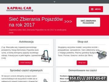 Zrzut strony Autokasacja, stacja demontażu pojazdów Bydgoszcz