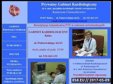 Zrzut strony Kardiologia Kielce