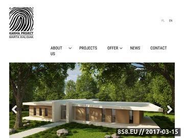 Zrzut strony Projekty domów, projekty obiektów użyteczności publicznej