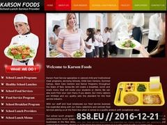 Thumbnail of School lunch programs - school lunch providers Website