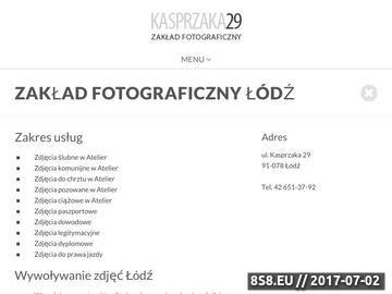 Zrzut strony Zakład fotograficzny Łódź