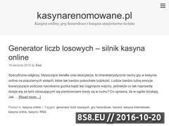 Miniaturka domeny www.kasynarenomowane.pl