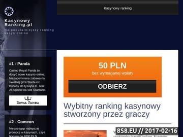 Zrzut strony Ranking kasyn