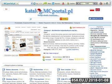 Zrzut strony Katalog MCportal.pl - baza firm oraz katalog stron www