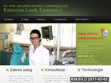 Zrzut strony Katarzynalasek.pl - gabinet stomatologiczny