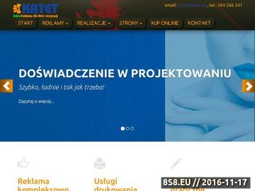 Zrzut strony Katet - tania reklama dla firm i instytucji