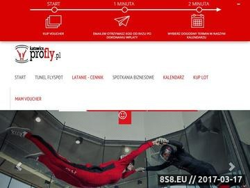 Zrzut strony Profly - aerotunel Katowice