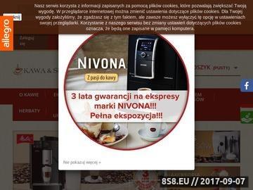 Zrzut strony Kawa & Serwis