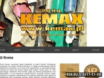 Zrzut strony KEMAX producent skór