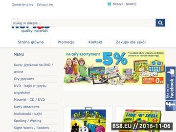 Zrzut strony Gry jezykowe, bajki po angielsku, karty obrazkowe i kurs jezykowy