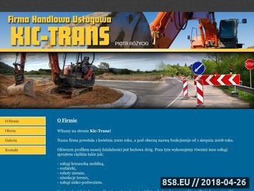 Zrzut strony FHU Kic-Trans Piotr Różycki - niwelacja terenu