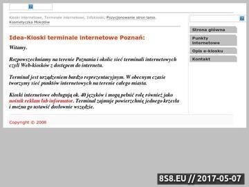 Zrzut strony Terminale internetowe, Kioski internetowe, Web-kioski, Infokioski
