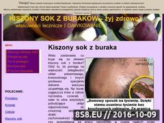 Miniaturka Kiszony sok z buraków - kiszone buraki - sok buraka, seler i warzywa (kiszoneburaki.blog.aras.pl)