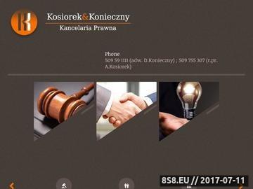 Zrzut strony Kosiorek Konieczny Kancelaria Prawna s.c.