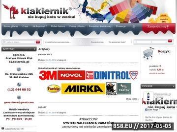 Zrzut strony Internetowy Sklep z Lakierami samochodowymi i dodatkami