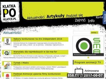 Zrzut strony Klatkapoklatce.pl - animacja i film animowany
