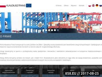 Zrzut strony Klaudiusz-trans: usługi transportowe i transport krajowy