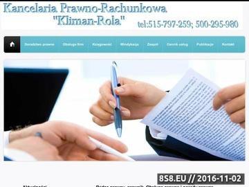 Zrzut strony Porady prawne które udziela radca prawny i prawnik, Warszawa