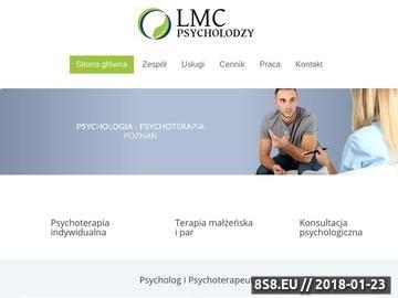 Zrzut strony Klinika psychoterapii LMC