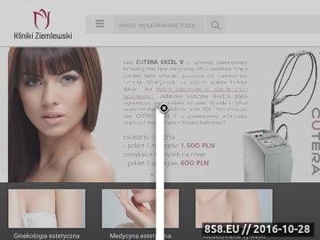 Zrzut strony Kliniki Ziemlewski - ginekologia estetyczna Wrocław