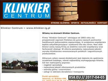 Zrzut strony Klinkier Centrum