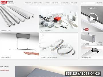 Zrzut strony Profile LED, oprawy LED i oświetlenie LED - Kluś Design
