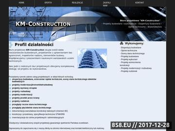 Zrzut strony KM-Construction - projekt modernizacji