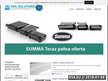 Zrzut strony KML Solutions
