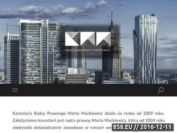 Zrzut strony Kancelaria prawna Marta Mackiewicz