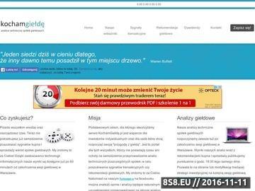 Zrzut strony Rekomendacje oraz sygnały kupna i sprzedaży spółek na GPW w Warszawie