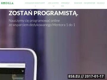 Zrzut strony Szkoła programowania Kodilla