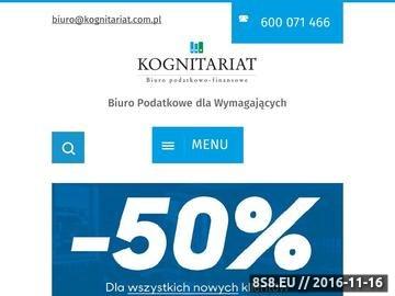 Zrzut strony Kognitariat Sp. z o. o. - biuro rachunkowe Warszawa