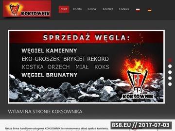 Zrzut strony Opał - FHU Koksownik