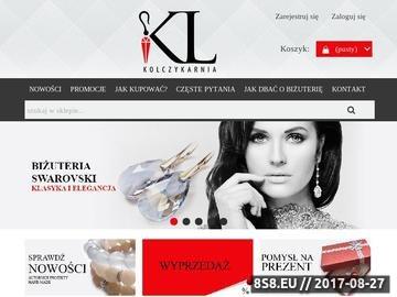 Zrzut strony Kolczykarnia.pl - Biżuteria Hand Made