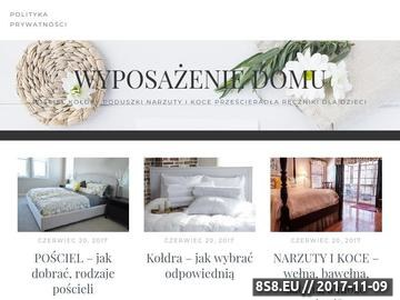 Zrzut strony Blog o wyposażeniu mieszkań